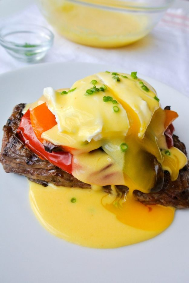 Eggs Benedict Recipes - Steaks Benedict - Best Benedicts and Recipe Ideas for Breakfast, Brunch and Lunch - Easy and Quick Eggs Benedict, Classic, Salmon, Vegetarian and Healthy Variations - How to Make Hollandaise Sauce - Pioneer Woman Favorites - Eggs Benedict Casserole for A Crowd http://diyjoy.com/eggs-benedict-recipes