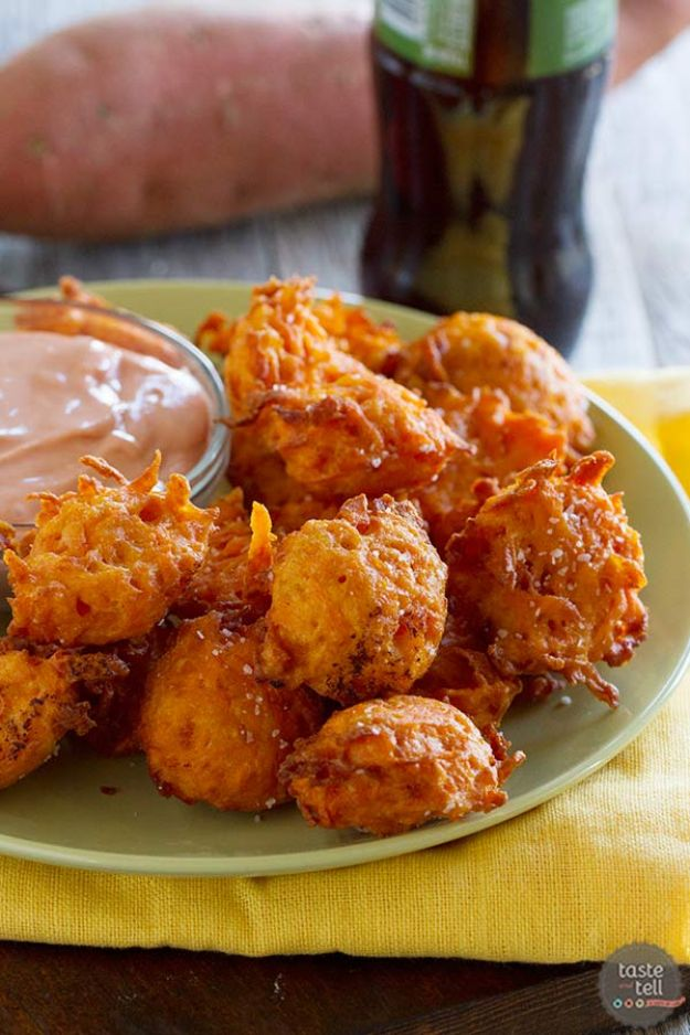 Sweet Potato Recipes - Sweet Potato Tots - Easy Recipe Ideas for Sweet Potatoes in the Crockpot, Casserole Dishes, Baked, Mashed, Candied and Roastedd - Healthy Versions of Sweet Potatoes for Thanksgiving - Dinner, Lunch and Side Dishes #recipes