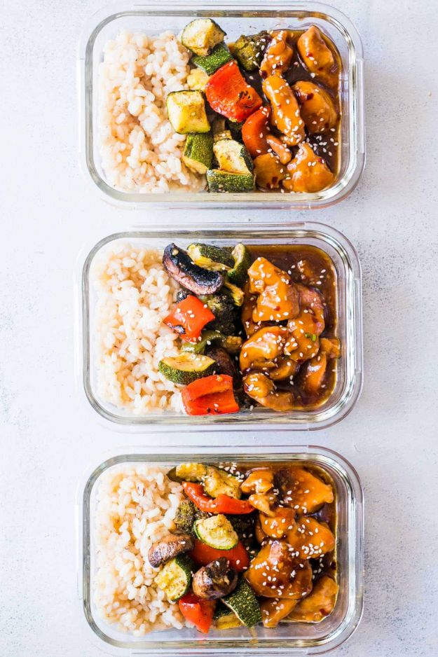 Meal Prep Ideas - Teriyaki Chicken Stir Fry Meal Prep - Recipes and Planning Tips for Making a Week of Meals - Easy, Healthy Recipe Ideas to Make Ahead - Weeknight Dinners Lunches - Crockpot Lunches, Slow Cooker Meals, Freeze Ahead http://diyjoy.com/meal-prep-ideas