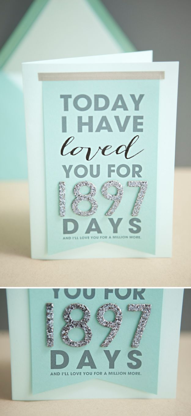 DIY anniversary Gifts - Today I Have Loved You For Card - Homemade, Handmade Gift Ideas for Wedding Anniversaries - Cool, Easy and inexpensive Gifts To Make for Husband or Wife #anniverary #diy #gifts