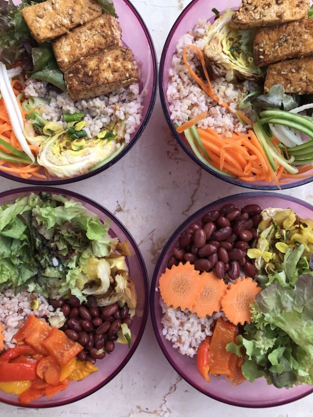 Meal Prep Ideas - Vegan Salad Meal Prep - Hea - Easy, Healthy Meal Prepping Recipe Ideas to Make Ahead - Weeknight Dinners Lunches - Crockpot, Slow Cooker Meals, Freezer