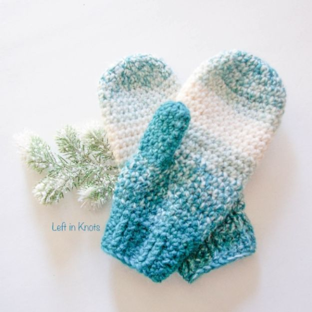 DIY Clothes for Winter - Warm Wool-ish Mittens - Cool Fashion Ideas to Make for Cold Weather - Handmade Scarves, Hats, Coats, Gloves and Mittens, Sweaters and Wraps - Easy Sewing Tutorials and No Sew Items - Creative and Quick Homemade Gifts and Christmas Present Ideas