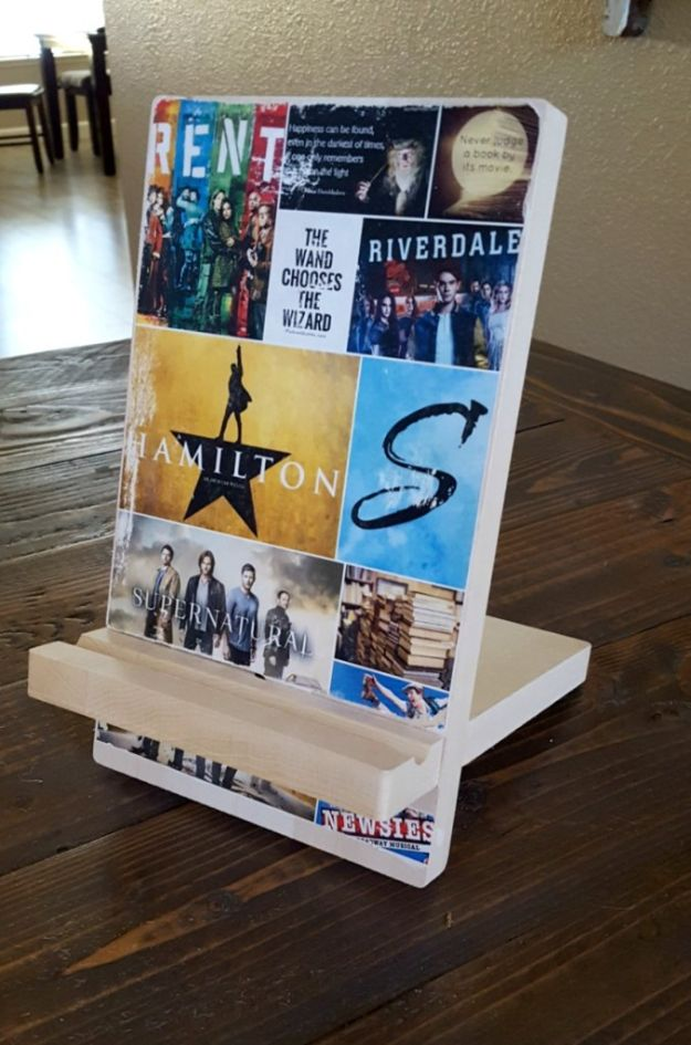 Cheap Last Minute Gifts DIY - Wooden Phone Stand - Inexpensive DIY Gift Ideas To Make On A Budget - Homemade Christmas and Birthday Presents to Make For Mom, Dad, Daughter & Son, Kids, Friends and Family - Cool and Creative Crafts, Home Decor and Accessories, Fun Gadgets and Phone Stuff - Quick Gifts From Dollar Tree Items #diygifts #cheapgifts #christmasgifts