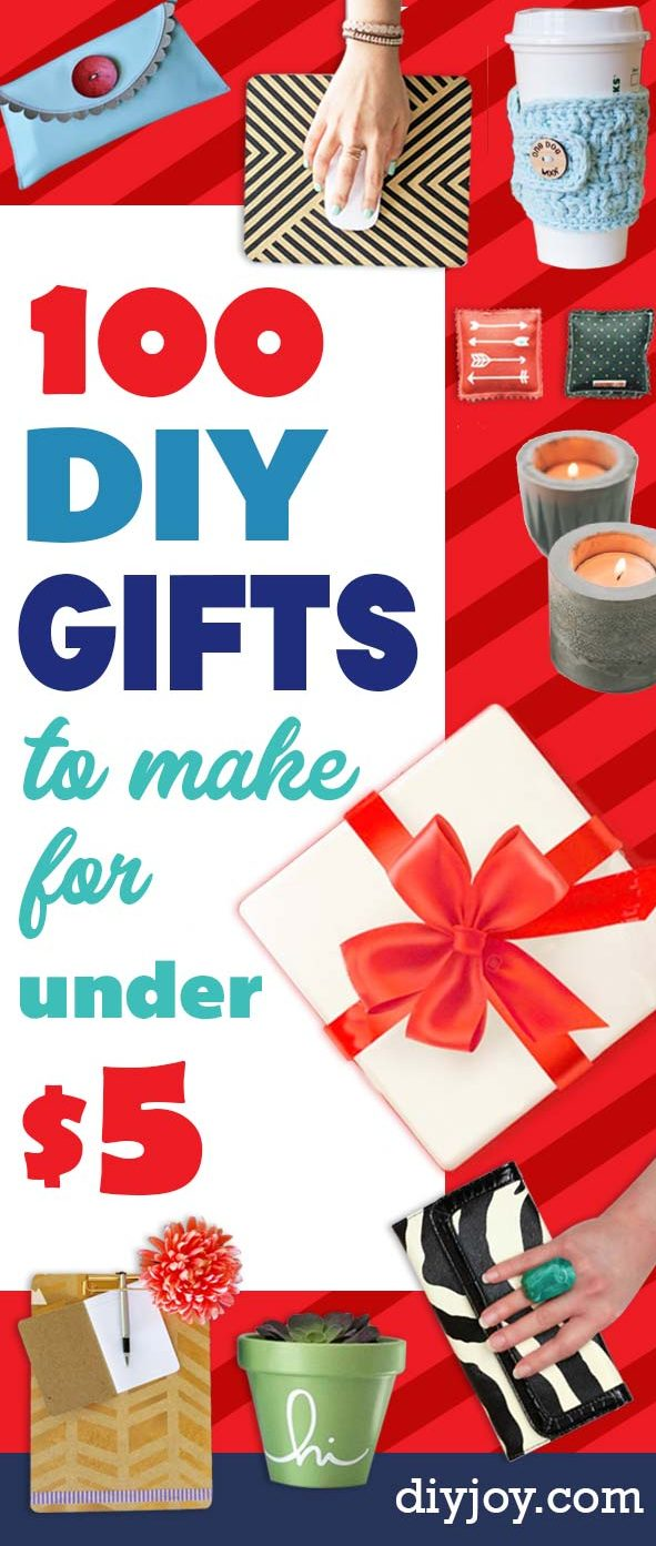 100 Cheap DIY Gifts To Make For Under $5