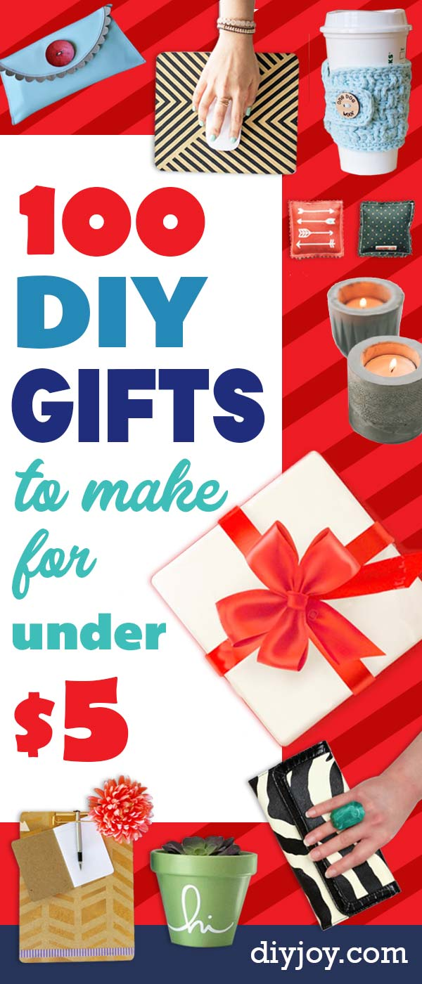 100 Cheap Diy Gifts To Make For Under 5