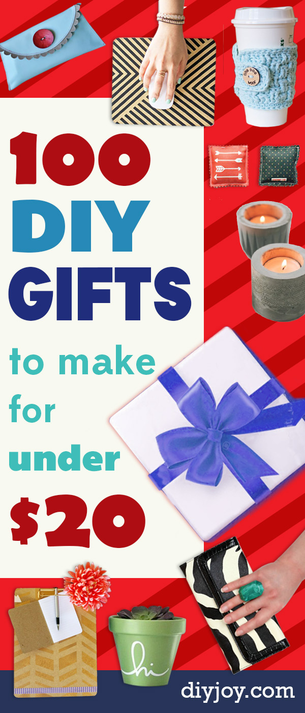 Cheap DIY Gifts - Inexpensive DIY Gift Ideas for Christmas, Birthday, Friends, Family