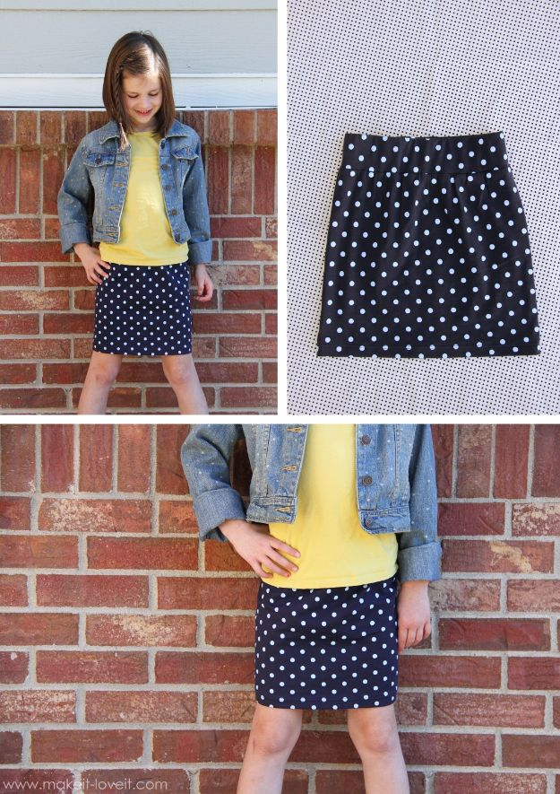 Easy Sewing Projects To Sew For Gifts - 30-Minute Tube Skirt - Simple Sewing Tutorials and Free Patterns for Making Christmas and Birthday Presents - Cheap Ideas to Make and Sell on Etsy