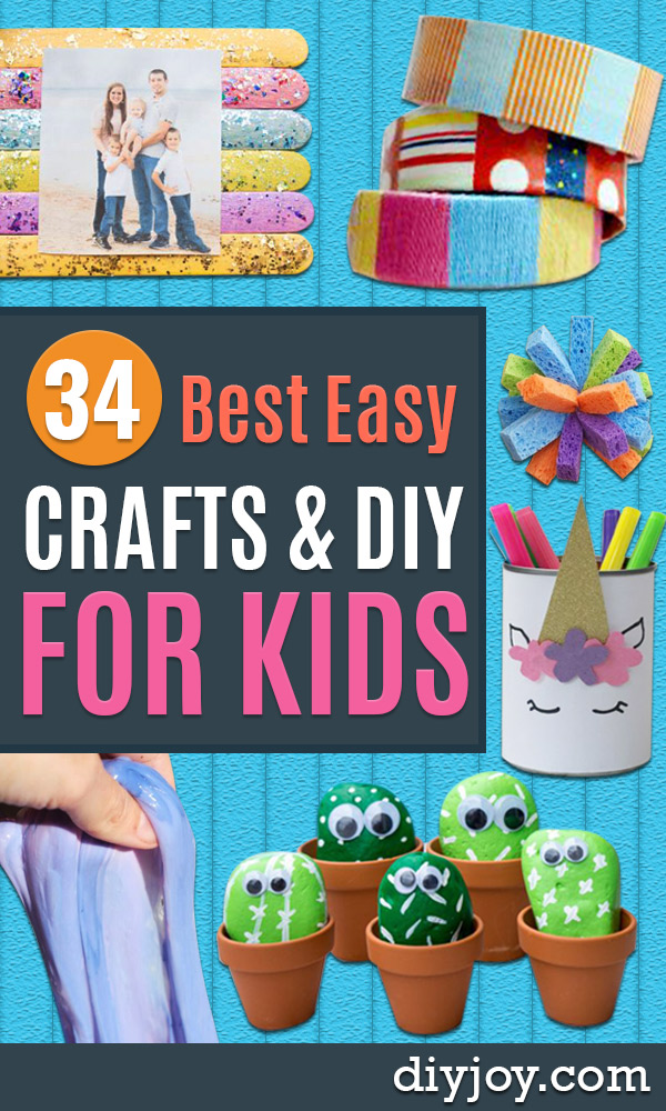 Easy Crafts for Kids - Quick DIY Ideas for Children - Boys and Girls Love These Cool Craft Projects - Indoor and Outdoor Fun at Home - Cheap Playtime Activities https://diyjoy.com/best-easy-crafts-for-kids