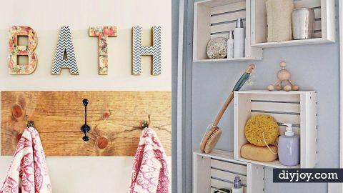 34 Cheap DIY Bathroom Decor Ideas   DIY Joy Projects and Crafts Ideas