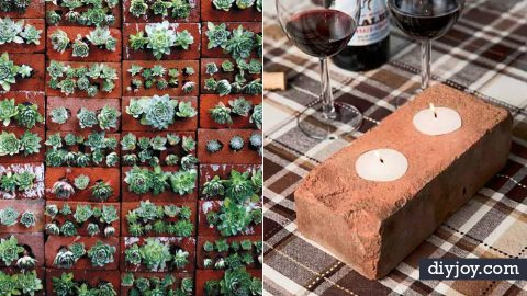 34 DIY Ideas With Bricks | DIY Joy Projects and Crafts Ideas