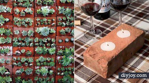34 DIY Ideas With Bricks   DIY Joy Projects and Crafts Ideas