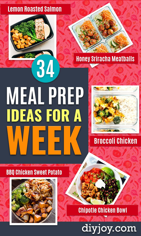 Meal Prep Ideas - Recipes and Planning Tips for Making a Week of Meals - Easy, Healthy Recipe Ideas - Weeknight Dinners Lunches - Crockpot Lunches, Slow Cooker Meals, Freeze Ahead
