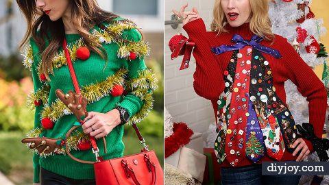 34 DIY Ugly Christmas Sweaters For That Holiday Party   DIY Joy Projects and Crafts Ideas