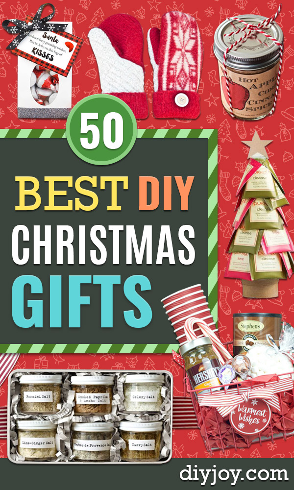 DIY Christmas Gifts - Easy Handmade Gift Ideas for Xmas Presents - Cheap Projects to Make for Holiday Gift Giving - Mom, Dad, Boyfriend, Girlfriend, Husband, Wife , Teens, Kids, Friends