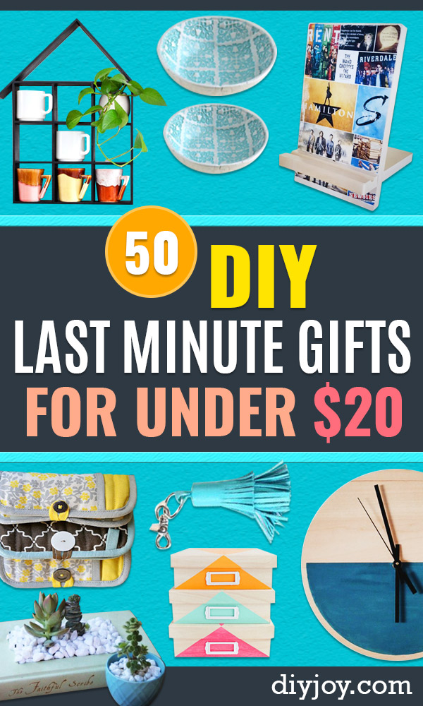 Cheap Last Minute Gifts DIY - Inexpensive DIY Gift Ideas To Make On A Budget - Homemade Christmas and Birthday Presents to Make For Mom, Dad, Daughter & Son, Kids, Friends and Family - Cool and Creative Crafts, Home Decor and Accessories, Fun Gadgets and Phone Stuff - Quick Gifts From Dollar Tree Items http://diyjoy.com/cheap-last-minute-gifts