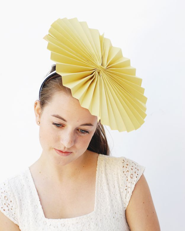 DIY Hats - Accordion Party Hat - Creative Do It Yourself Hat Tutorials for Making a Hat - Step by Step Tutorial for Cute and Easy Baseball Hat, Cowboy Hat, Flowers or Floral Tea Party Ideas, Kids and Adults, Knit Cap for Babies http://diyjoy.com/diy-hats