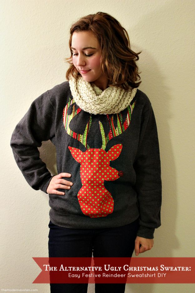 DIY Ugly Christmas Sweaters - Alternative Ugly Christmas Sweater - No Sew and Easy Sewing Projects - Ideas for Him and Her to Wear to Holiday Contest or Office Party Outfit - Funny Couples Sweater, Mens Womens and Kids #christmas