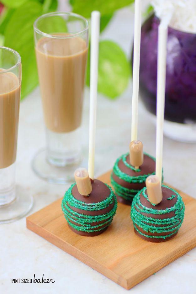 Cake Pop Recipes and Ideas - Bailey's Spiked Cake Pops - How to Make Cake Pops - Easy Recipe for Chocolate, Funfetti Birthday, Oreo, Red Velvet - Wedding and Christmas DIY #dessertrecipes #cakepops https://diyjoy.com/cake-pop-recipes
