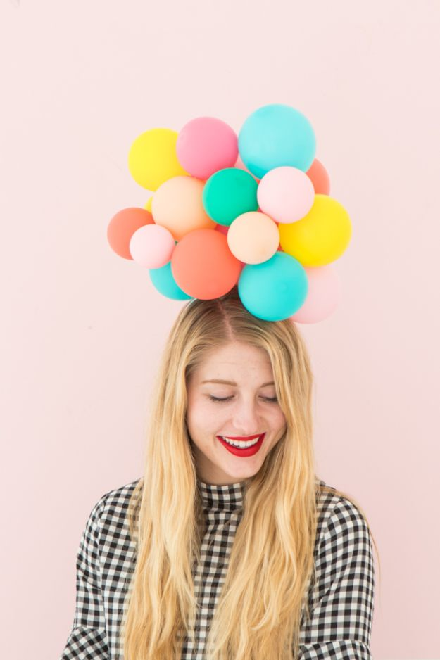 DIY Hats - Balloon Hat DIY - Creative Do It Yourself Hat Tutorials for Making a Hat - Step by Step Tutorial for Cute and Easy Baseball Hat, Cowboy Hat, Flowers or Floral Tea Party Ideas, Kids and Adults, Knit Cap for Babies #hats #diyclothes
