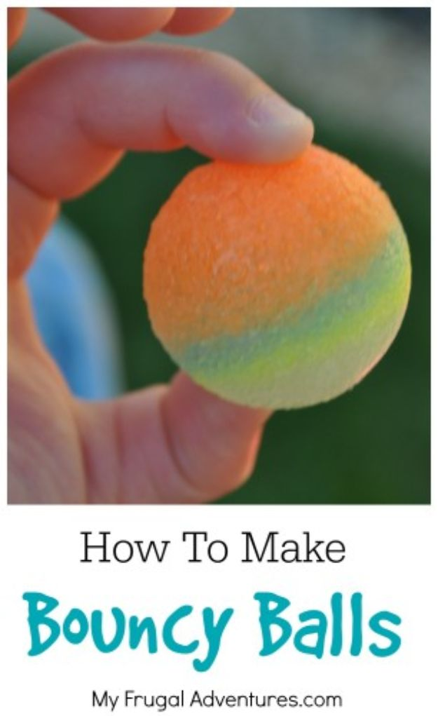 Easy Crafts for Kids - Bouncy Balls - Quick DIY Ideas for Children - Boys and Girls Love These Cool Craft Projects - Indoor and Outdoor Fun at Home - Cheap Playtime Activities #kidscrafts