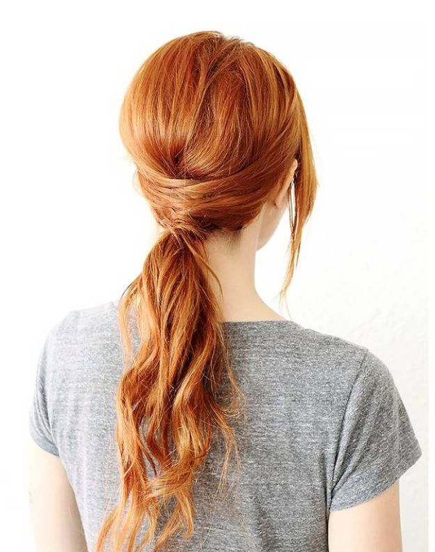 Holiday Hairstyles - Criss Cross Ponytail - Cute DIY Hair Styles for Christmas and New Years Eve, Special Occasion - Updos, Braids, Buns, Ponytails, Half Up Half Down Looks  #hairstyles