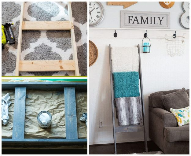 Magnolia Homes Decor Ideas - DIY Blanket Ladder - DIY Decor Inspired by Chip and Joanna Gaines - Fixer Upper Dining Room, Coffee Tables, Light Fixtures for Your House - Do It Yourself Decorating On A Budget With Farmhouse Style Decorations for the Home