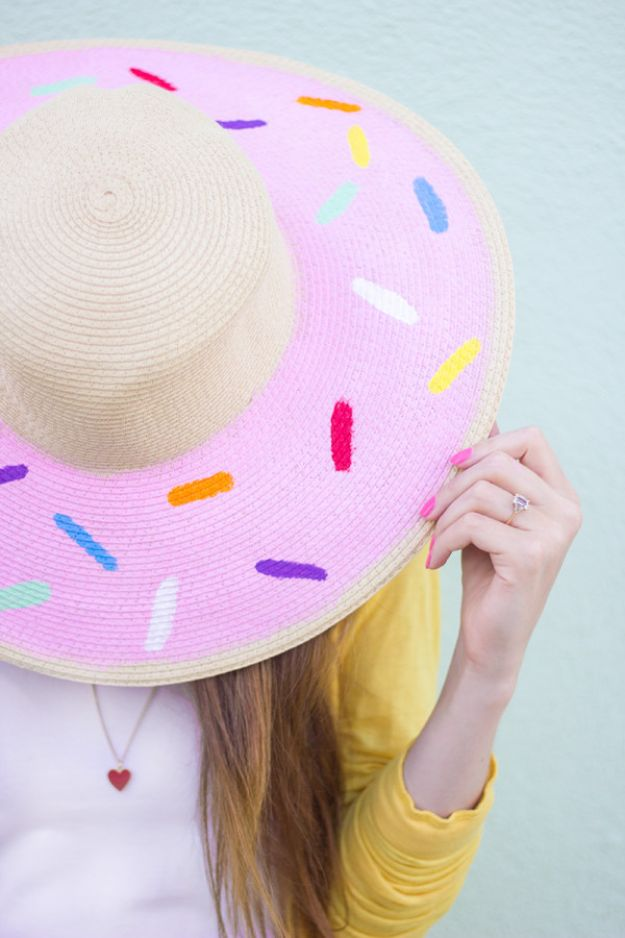 DIY Hats - DIY Donut Floppy Hat - Creative Do It Yourself Hat Tutorials for Making a Hat - Step by Step Tutorial for Cute and Easy Baseball Hat, Cowboy Hat, Flowers or Floral Tea Party Ideas, Kids and Adults, Knit Cap for Babies http://diyjoy.com/diy-hats
