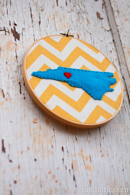 Cool State Crafts - DIY Embroidery Hoop State Love Art - Easy Craft Projects To Show Your Love For Your Home State - Best DIY Ideas Using Maps, String Art Shaped Like States, Quotes, Sayings and Wall Art Ideas, Painted Canvases, Cute Pillows, Fun Gifts and DIY Decor Made Simple - Creative Decorating Ideas for Living Room, Kitchen, Bedroom, Bath and Porch http://diyjoy.com/cool-state-crafts