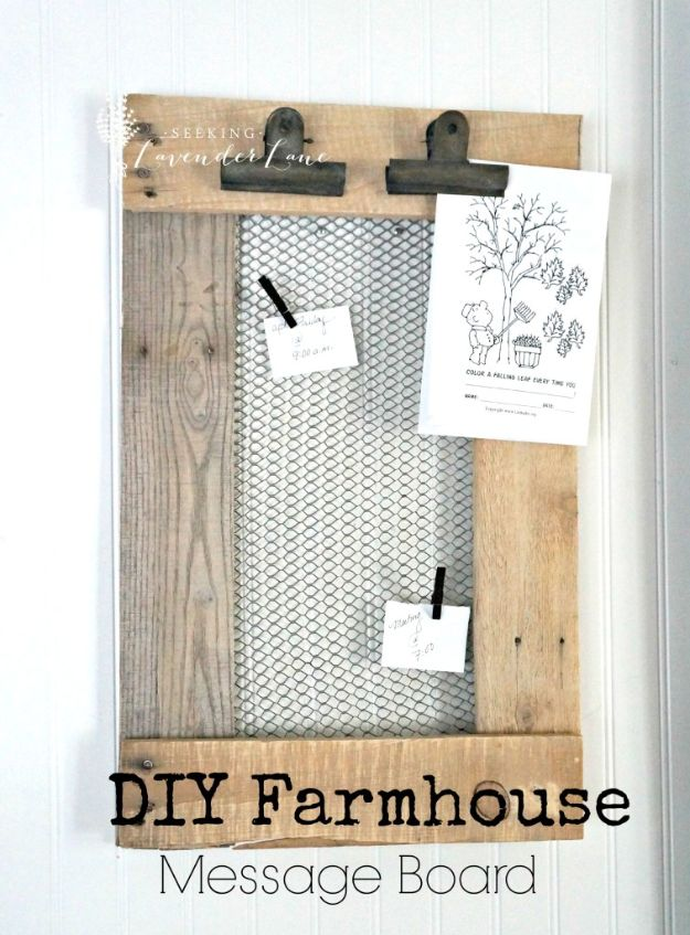 Magnolia Homes Decor Ideas - DIY Farmhouse Message Board - DIY Decor Inspired by Chip and Joanna Gaines - Fixer Upper Dining Room, Coffee Tables, Light Fixtures for Your House - Do It Yourself Decorating On A Budget With Farmhouse Style Decorations for the Home