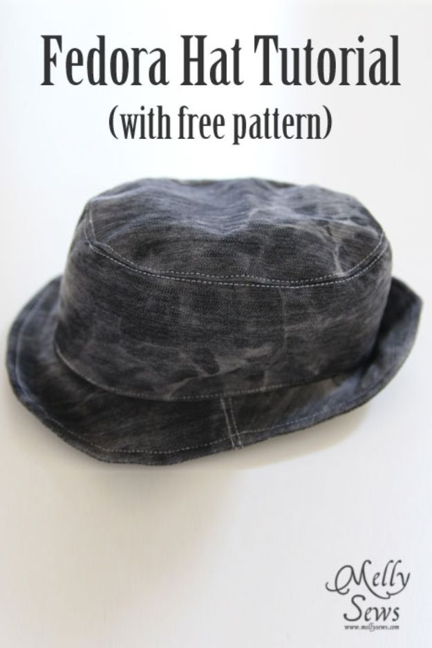 DIY Hats - DIY Fedora Hat - Creative Do It Yourself Hat Tutorials for Making a Hat - Step by Step Tutorial for Cute and Easy Baseball Hat, Cowboy Hat, Flowers or Floral Tea Party Ideas, Kids and Adults, Knit Cap for Babies http://diyjoy.com/diy-hats