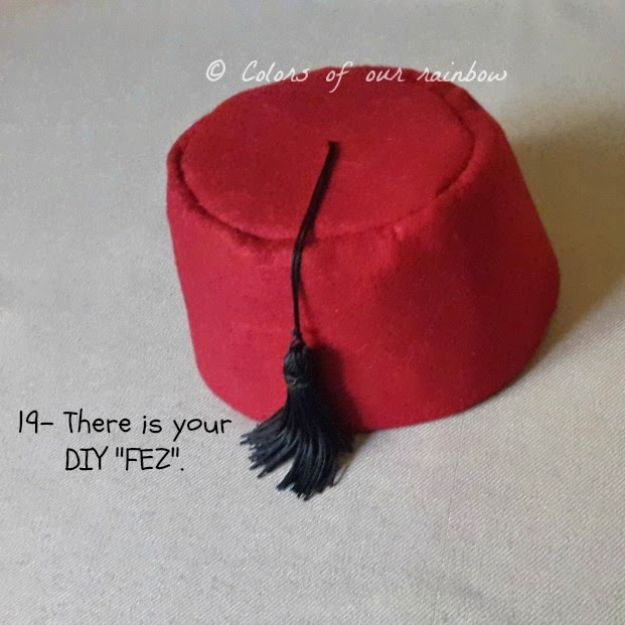DIY Hats - DIY Fez Hat - Creative Do It Yourself Hat Tutorials for Making a Hat - Step by Step Tutorial for Cute and Easy Baseball Hat, Cowboy Hat, Flowers or Floral Tea Party Ideas, Kids and Adults, Knit Cap for Babies #hats #diyclothes
