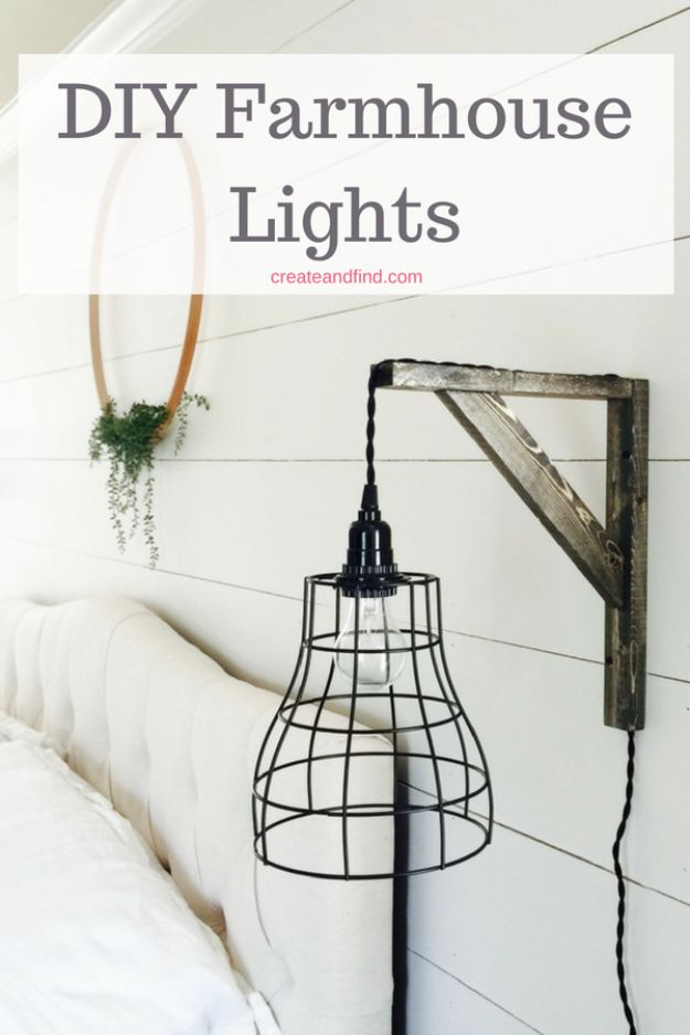 DIY Lighting Ideas - DIY Industrial Farmhouse Pendant Light - Indoor Lighting for Bedroom, Kitchen, Bathroom and Home - Outdoor Do It Yourself Lighting Ideas for the Backyard, Patio, Porch Lights, Chandeliers #diy