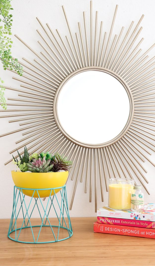 DIY Plant Hangers - DIY Modern Bowl Planter - Cute and Easy Home Decor Ideas for Plants - How To Make Planters, Hanging Pot Holders, Wire, Rope and Baskets - Quick DIY Gifts Ideas, Macrame Plant Hanger #gardening #plants #diyideas