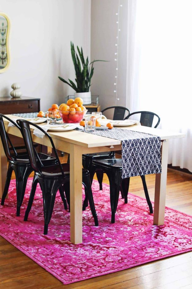 DIY Home Decor Projects for Beginners - DIY Modern Table Runner - Easy Homemade Decoration for Your House or Apartment - Creative Wall Art, Rugs, Furniture and Accessories for Kitchen - Quick and Cheap Ways to Decorate on A Budget - Farmhouse, Rustic, Modern, Boho and Minimalist Style With Step by Step Tutorials #diy