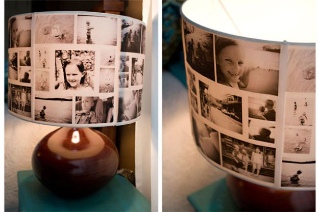 DIY Christmas Gifts - DIY Photo Lampshade - Easy Handmade Gift Ideas for Xmas Presents - Cheap Projects to Make for Holiday Gift Giving - Mom, Dad, Boyfriend, Girlfriend, Husband, Wife #diygifts #christmasgifts