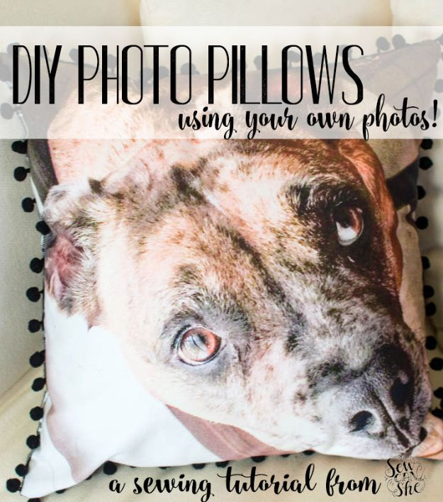Easy Sewing Projects To Sew For Gifts - DIY Photo Pillows - Simple Sewing Tutorials and Free Patterns for Making Christmas and Birthday Presents - Cheap Ideas to Make and Sell on Etsy