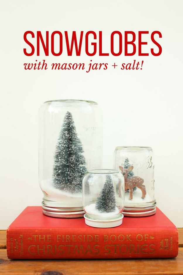 DIY Christmas Gifts - DIY Snow Globes - Easy Handmade Gift Ideas for Xmas Presents - Cheap Projects to Make for Holiday Gift Giving - Mom, Dad, Boyfriend, Girlfriend, Husband, Wife #diygifts #christmasgifts