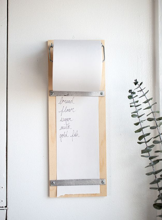 Magnolia Homes Decor Ideas - DIY Wood Shopping List Pad - DIY Decor Inspired by Chip and Joanna Gaines - Fixer Upper Dining Room, Coffee Tables, Light Fixtures for Your House - Do It Yourself Decorating On A Budget With Farmhouse Style Decorations for the Home http://diyjoy.com/magnolia-homes-decor-ideas