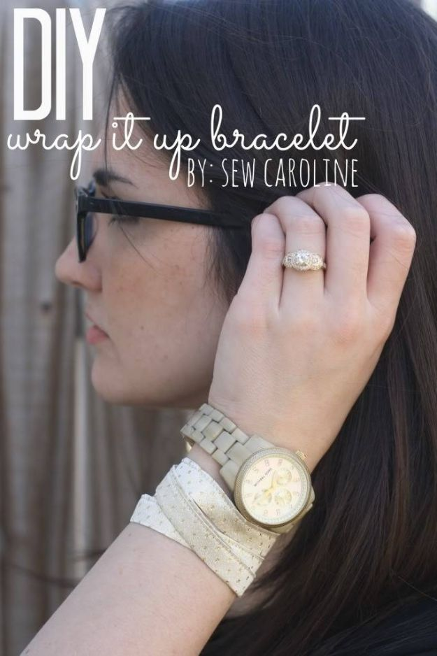 Easy Sewing Projects To Sew For Gifts - DIY Wrap It Up Bracelet - Simple Sewing Tutorials and Free Patterns for Making Christmas and Birthday Presents - Cheap Ideas to Make and Sell on Etsy