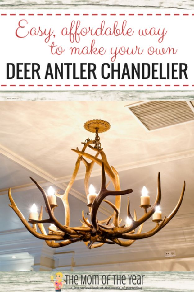 Magnolia Homes Decor Ideas - Deer Antler Chandelier - DIY Decor Inspired by Chip and Joanna Gaines - Fixer Upper Dining Room, Coffee Tables, Light Fixtures for Your House - Do It Yourself Decorating On A Budget With Farmhouse Style Decorations for the Home