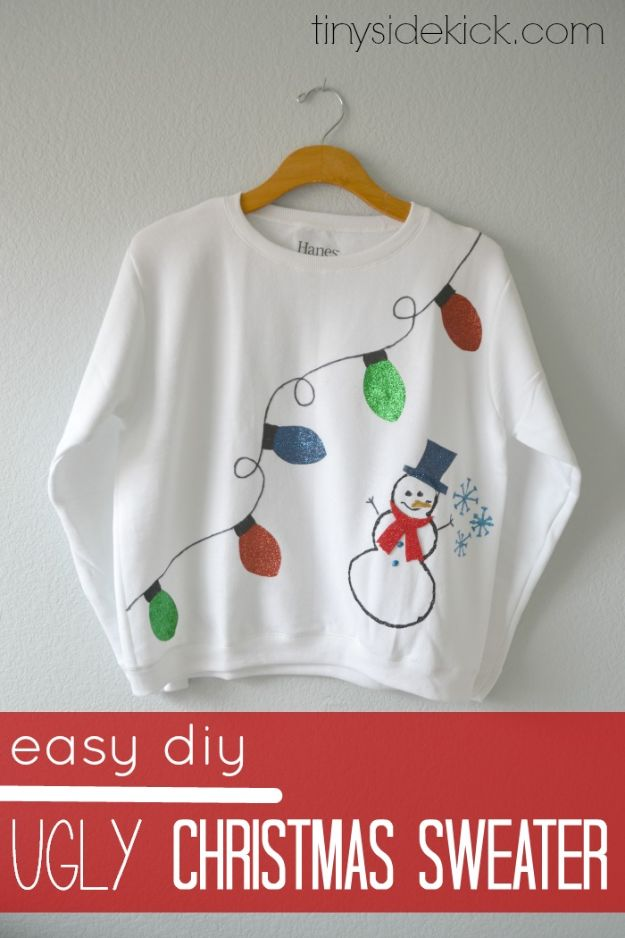 Easy Crafts for Kids - Easy DIY Ugly Christmas Sweater - Quick DIY Ideas for Children - Boys and Girls Love These Cool Craft Projects - Indoor and Outdoor Fun at Home - Cheap Playtime Activities