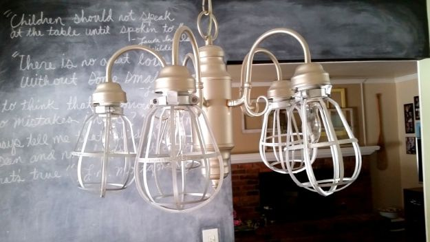Easy DIY Vintage Cage Light Fixture