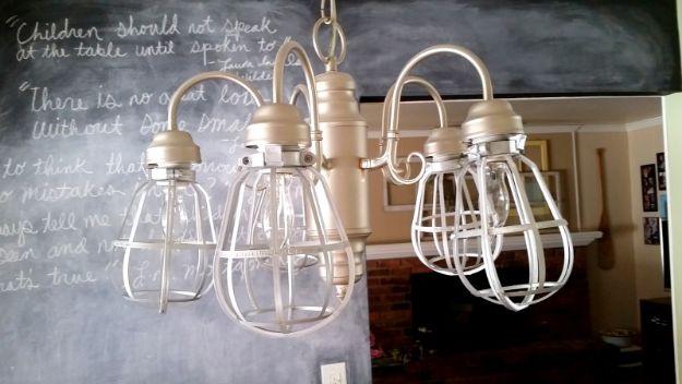 Easy DIY Vintage Cage Light Fixture