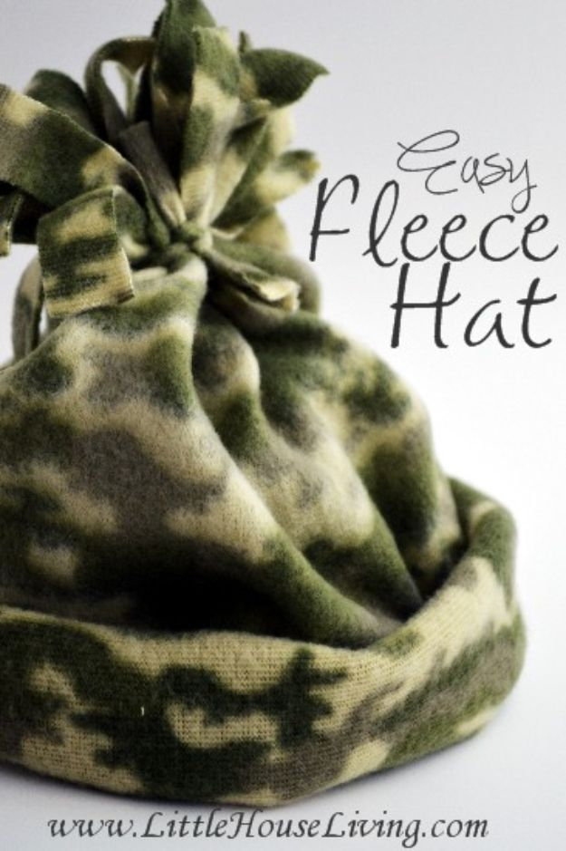 Easy Sewing Projects To Sew For Gifts - Easy Fleece Hat - Simple Sewing Tutorials and Free Patterns for Making Christmas and Birthday Presents - Cheap Ideas to Make and Sell on Etsy http://diyjoy.com/quick-diy-gifts-sewing-projects - Simple Sewing Tutorials and Free Patterns for Making Christmas and Birthday Presents - Cheap Ideas to Make and Sell on Etsy http://diyjoy.com/quick-diy-gifts-sewing-projects