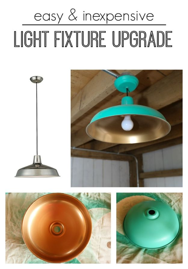 DIY Lighting Ideas - Easy & Inexpensive Light Fixture Upgrade - Indoor Lighting for Bedroom, Kitchen, Bathroom and Home - Outdoor Do It Yourself Lighting Ideas for the Backyard, Patio, Porch Lights, Chandeliers #diy