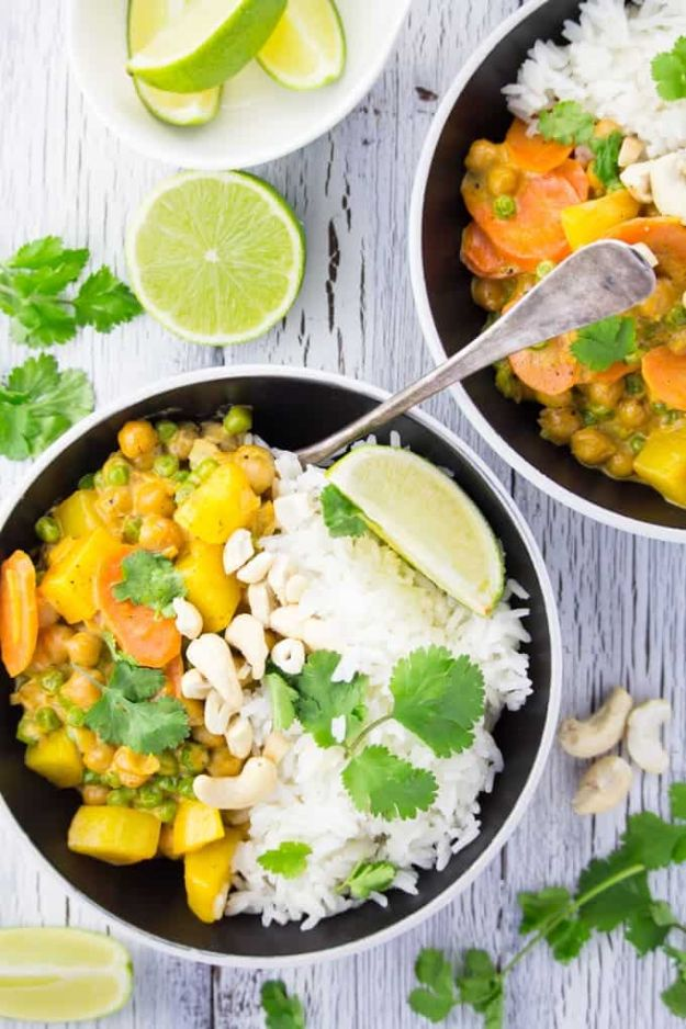Vegan Recipes - Easy Vegan Chickpea Curry With Potatoes - Easy, Healthy Plant Based Foods - Gluten Free Breakfast, Lunch and Dessert - Keto Diet for Beginners  #vegan #veganrecipes
