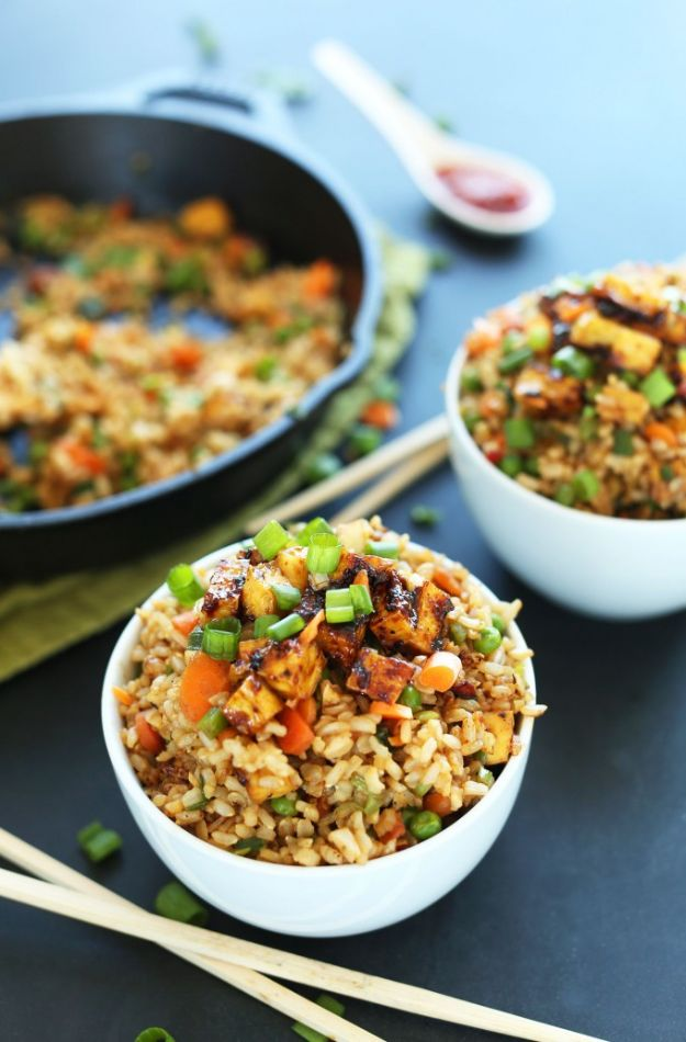 Vegan Recipes - Easy Vegan Fried Rice - Easy, Healthy Plant Based Foods - Gluten Free Breakfast, Lunch and Dessert - Keto Diet for Beginners  #vegan #veganrecipes
