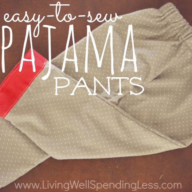 DIY Nightgowns and Sleepwear - Easy to Sew Pajama Pants - Easy Sewing Projects for Cute Nightshirts, Tshirts, Gowns and Pajamas - Free Patterns and Step by Step Tutorials https://diyjoy.com/diy-nightgowns-sleepwear