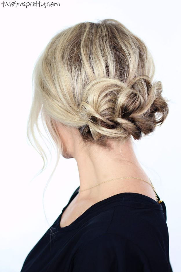 Holiday Hairstyles - Elegant Holiday Updo - Cute DIY Hair Styles for Christmas and New Years Eve, Special Occasion - Updos, Braids, Buns, Ponytails, Half Up Half Down Looks #hairstyles