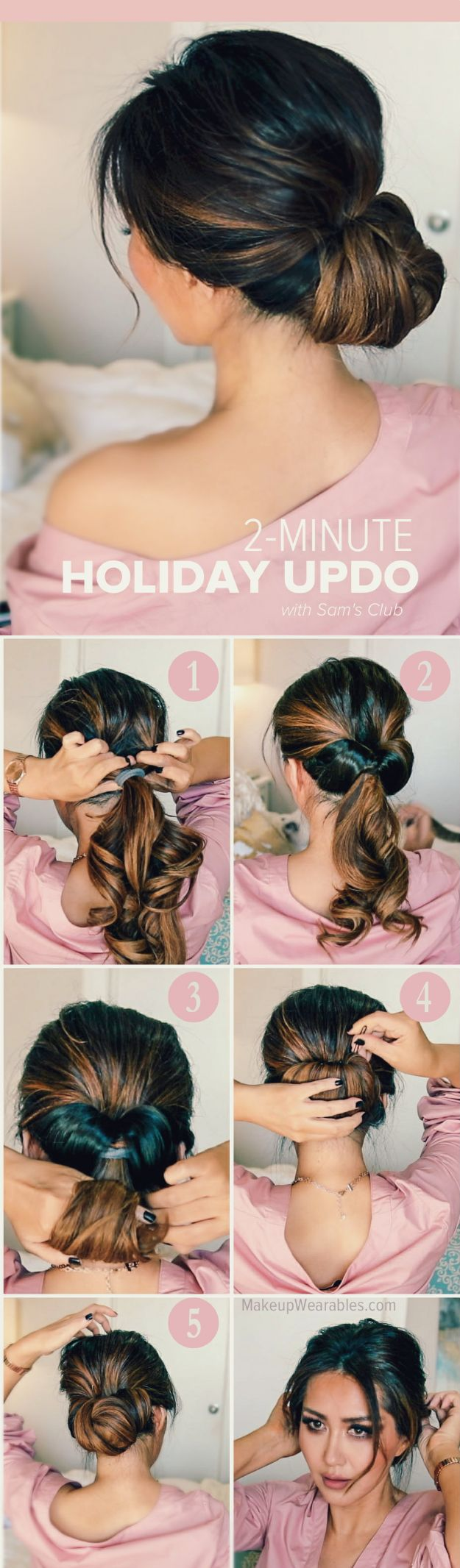 Holiday Hairstyles - Elegant Updo - Cute DIY Hair Styles for Christmas and New Years Eve, Special Occasion - Updos, Braids, Buns, Ponytails, Half Up Half Down Looks #hairstyles